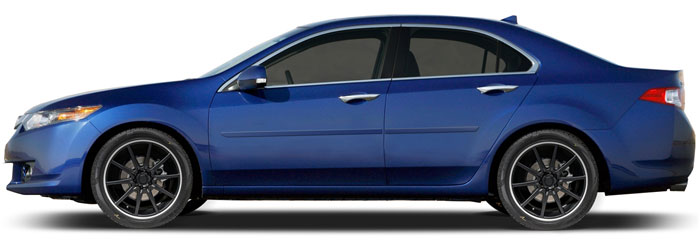 Acura Tsx Painted Body Side Moldings 2009 2010 2011