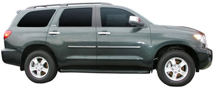 Toyota Sequoia Painted Body Side Moldings