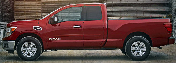 Nissan Titan King Cab Painted Body Side Moldings