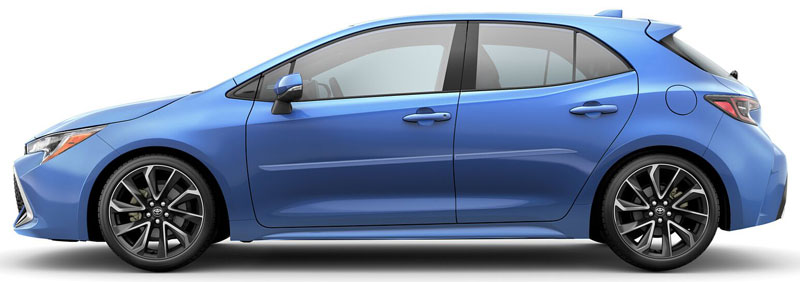Toyota Corolla Hatchback Painted Body Side Moldings (beveled design)
