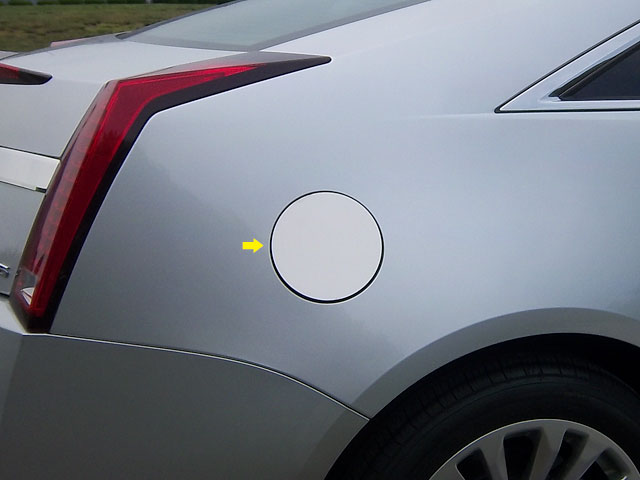 Cadillac CTS Coupe Chrome Fuel Door Trim