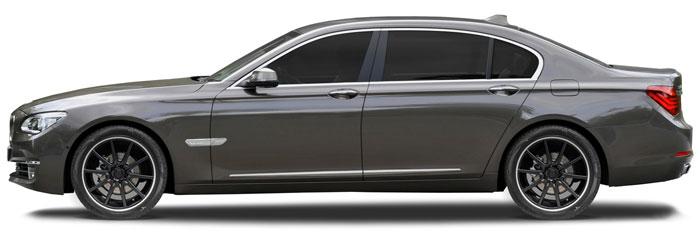BMW 7 Series Chrome Lower Door Moldings 4 Piece Set 2009