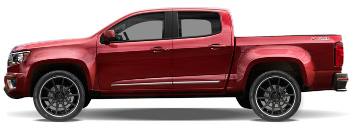 Chevrolet Colorado Chrome Lower Door Moldings 2015 2016