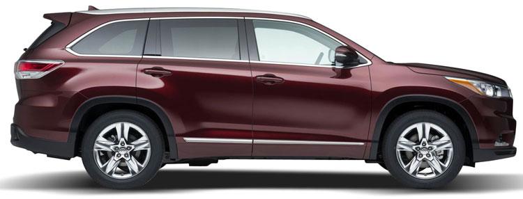 Toyota Highlander Chrome Lower Door Moldings 2014 2015