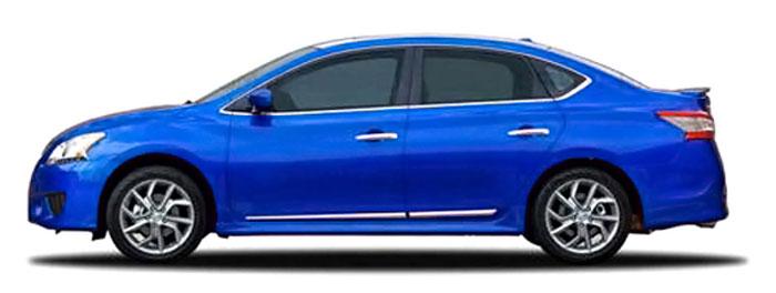 Nissan Sentra Chrome Lower Door Moldings 2013 2014 2015