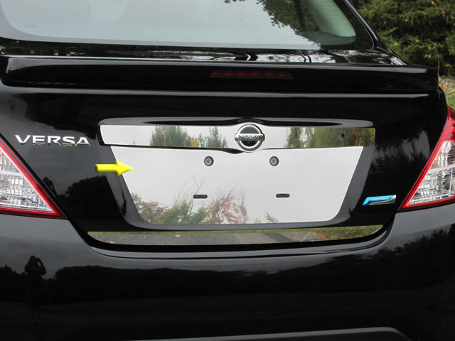Nissan Versa Sedan Chrome License Plate Bezel