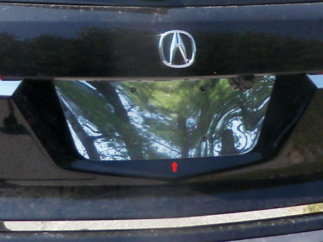 Acura MDX Chrome License Plate Bezel - Acura mdx accessories