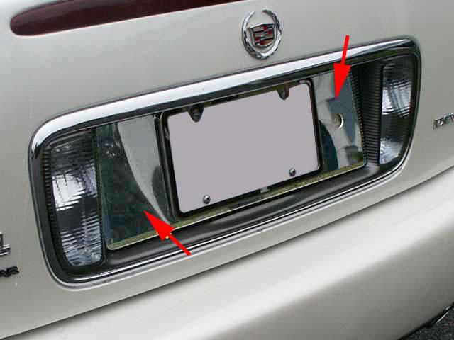 Cadillac Deville Dts Dhs Chrome License Plate Bezel