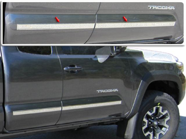 For 2016-2019 Toyota Tacoma Stainless Polish Mirror Chrome Door Pillar Trim 4PCS