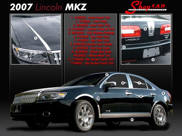 Lincoln Mkz Chrome Hood Accent Trim 2007 2008 2009