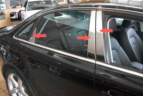 Stainless Steel Pillar Post Chrome Trim 4PC For Subaru Forester 2009-2012