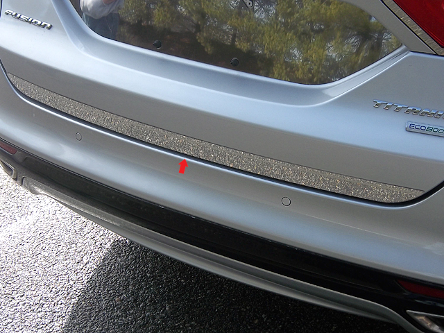New Stainless Steel Chrome Rear Bumper Trim For Ford Fusion 2013 2014 2015 2016