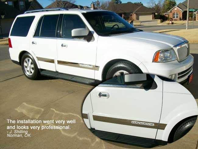Lincoln navigator chrome side molding trim 2003 2004 2005 2006 features sciox Gallery