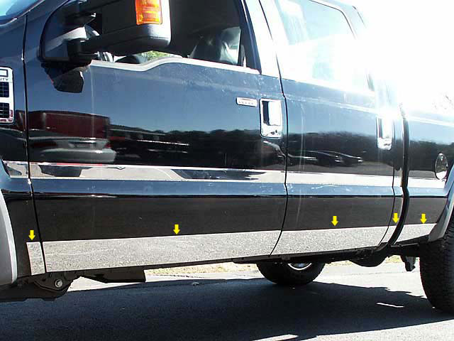 2008-2016 Ford Super Duty//F-250 Tailgate Trim Molding Accent Stainless Steel