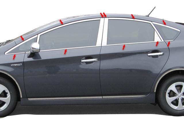 Toyota Prius Chrome Window Trim Package 2010 2011 2012