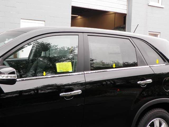 Kia Sorento Chrome Window Sill Trim