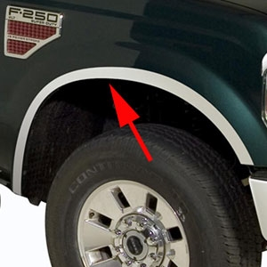 Ford Super Duty Wheel Well Fender Trim 2008 2009 2010