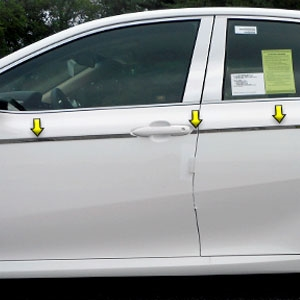 Fit For Toyota Camry 2018-2020 Mirror Chrome ABS Side Door Molding Cover Trim