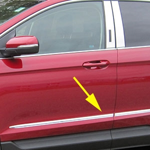 Ford Edge Chrome Side Molding Trim 2015 2016 2017 2018