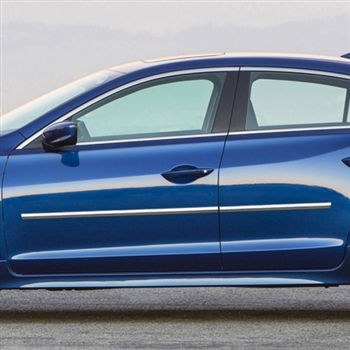 Acura Ilx Chrome Body Side Moldings 2013 2014 2015 2016 2017 2018 2019 Shopsar Com