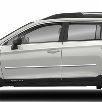 Subaru Outback Chrome Body Side Moldings 2010 2011 2012
