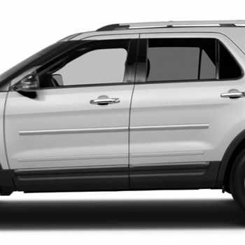 Ford Explorer Chrome Body Side Moldings, 2011, 2012, 2013, 2014, 2015, 2016, 2017, 2018 ...