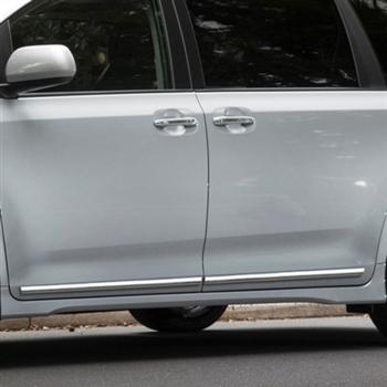 Toyota Sienna Lower Door Chrome Body Side Moldings 2011