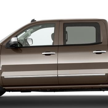 Chevrolet Silverado Chrome Body Side Moldings 2014 2015