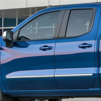 Chevrolet Silverado Chrome Body Side Moldings, 2019, 2020 ...