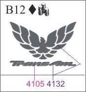 Katzkin Embroidery Firebird Logo With Trans Am Emb B12