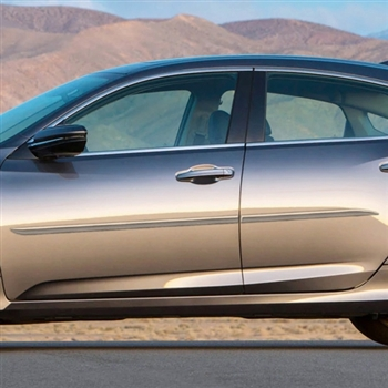 For HONDA INSIGHT ALL MODELS Lower Chrome Accent Body Side Mouldings 2010-2014