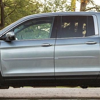 Honda Ridgeline Painted Body Side Moldings Beveled Design