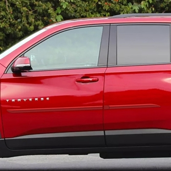 Chevrolet Traverse Painted Body Side Moldings Beveled
