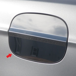 Ford Fusion Chrome Fuel Door Cover 2013 2014 2015 2016