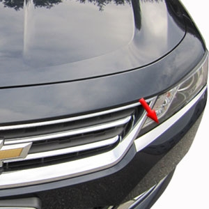 Chevrolet Impala Chrome Headlight Trim 2014 2015 2016