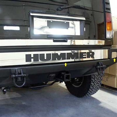 Hummer H2 Stainless Steel Rear Bumper Cover Trim 2003