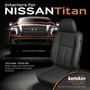 Nissan Titan Katzkin Leather Seat Upholstery Kit Shopsar Com