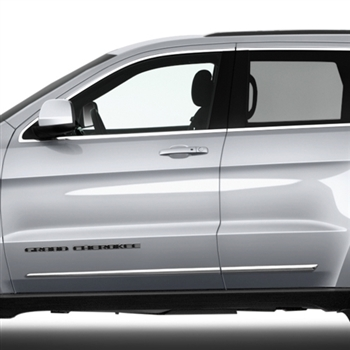 Jeep Grand Cherokee Chrome Lower Door Moldings 2014 2015
