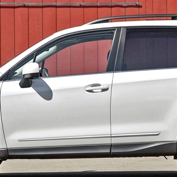 Subaru Forester Chrome Lower Door Moldings 2009 2010