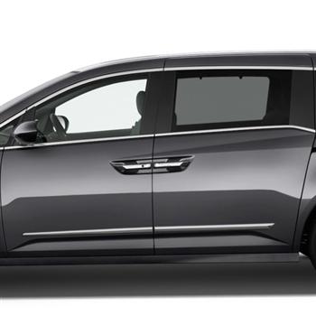 Honda Odyssey Chrome Lower Door Moldings, 2011, 2012, 2013 ...
