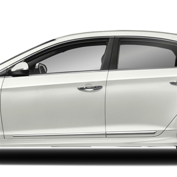 Hyundai Sonata Seat Covers >> Hyundai Sonata Chrome Lower Door Moldings, 2011, 2012, 2013, 2014, 2015, 2016, 2017, 2018 ...