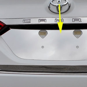 Toyota Camry Chrome License Plate Bezel 2018 2019