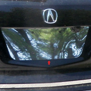 Acura MDX Chrome License Plate Bezel - Acura license plate