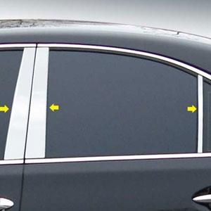 Lexus Ls Chrome Pillar Post Trim 2007 2008 2009 2010