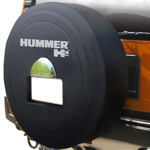 Hummer H2 Black Textured Rigid Spare Tire Cover 2005