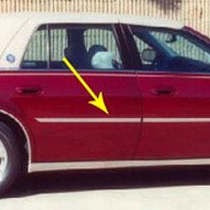 cadillac deville dts dhs chrome door molding trim 2000 2001 2002 2003 2004 2005 shopsar com cadillac deville dts chrome door molding trim 4pc 2000 2005