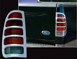 Ford F150 Quot Fleetside Quot Chrome Tail Light Bezels 1997 1998