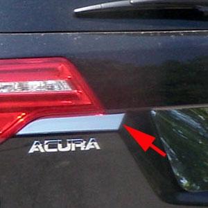 acura mdx chrome tailgate accent trim 2007 2008 2009 2010 2011