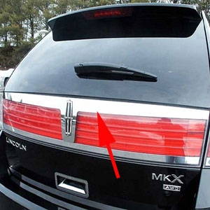 2007-2015 Lincoln MKX Rear Trunk Lower Trim Accent Chrome Stainless Steel Door