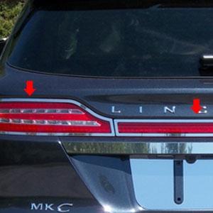 Lincoln Mkc Chrome Tail Light Surround Trim 2015 2016 2017 2018